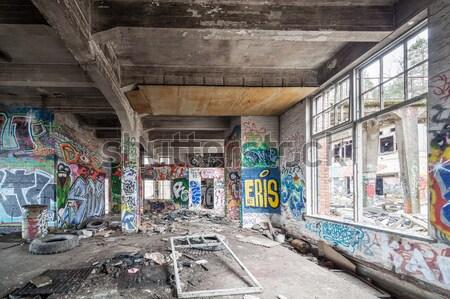 Old abandoned factory hall Stock photo © Juhku