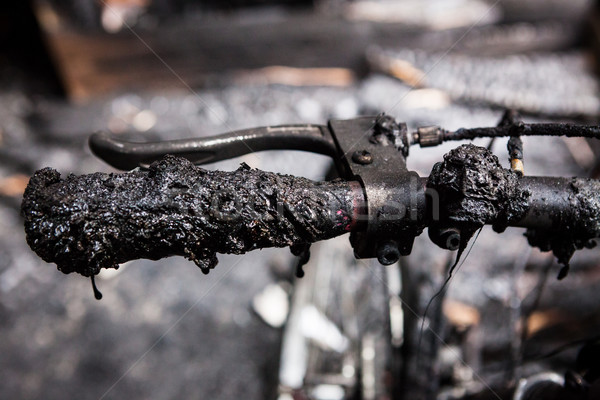 Bicycle burned handlebars Stock photo © Juhku