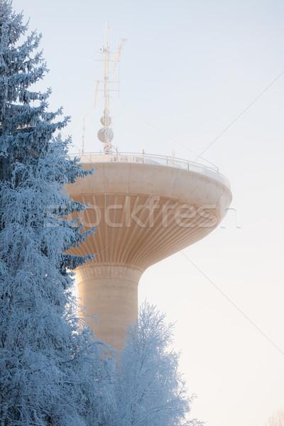 水 塔 冷たい 冬 天気 ビッグ ストックフォト © Juhku