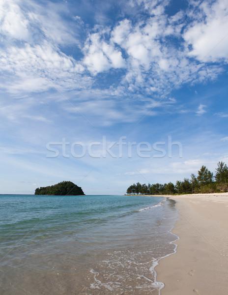 Strand borneo Maleisië hemel water achtergrond Stockfoto © Juhku