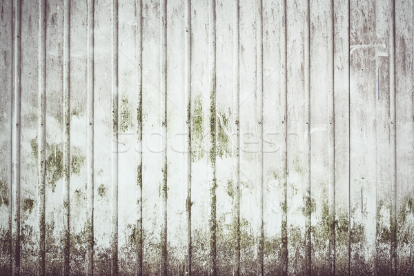 Sujo metal parede tira textura edifício Foto stock © Juhku