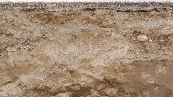 Keresztmetszet út aszfalt építkezés kő kő Stock fotó © Juhku