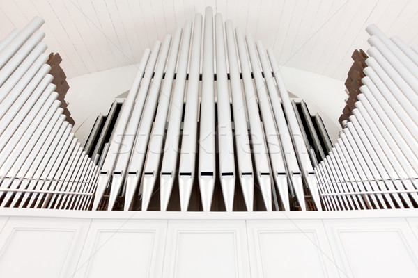 白 教会 オルガン パイプ 対称性 ストックフォト © Juhku