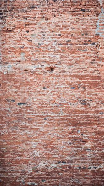 öreg törött téglafal elnyűtt textúra építkezés Stock fotó © Juhku