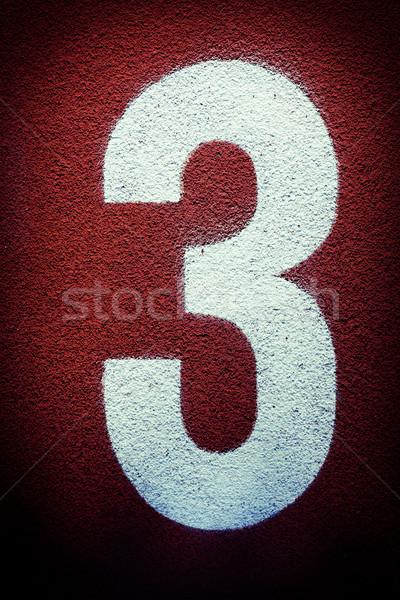 Track veld aantal drie textuur kunst Stockfoto © Juhku