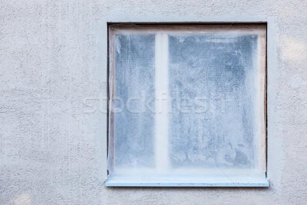 Ház rendbehoz külső ablak védett műanyag Stock fotó © Juhku