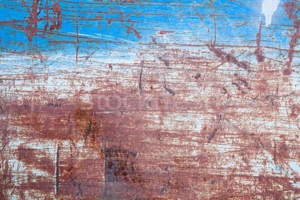 Metal texture costruzione muro blu piatto industriali Foto d'archivio © Juhku