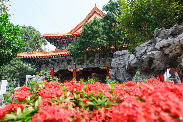 Bűn templom Hongkong épület természet terv Stock fotó © Juhku