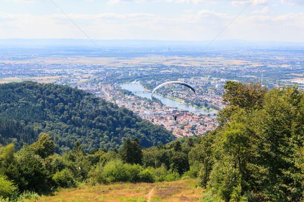 Fut elvesz el felső domb Németország Stock fotó © Juhku