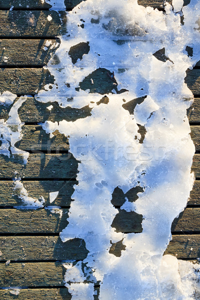 Congelado edad muelle invierno manana Foto stock © Juhku