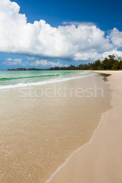 Longo areia praia ponta fundo verão Foto stock © Juhku