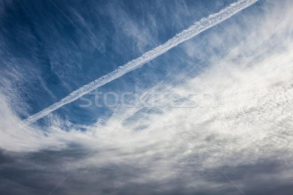 空 雲 抽象的な 自然 青 ストックフォト © Juhku