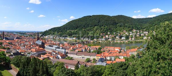 Heidelberg city panorama Stock photo © Juhku