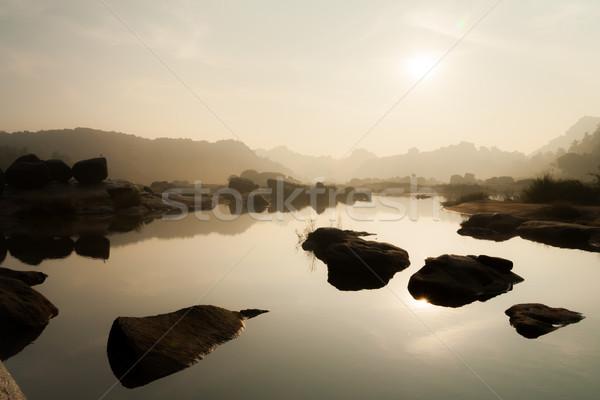 River landscape in hampi india Stock photo © Juhku