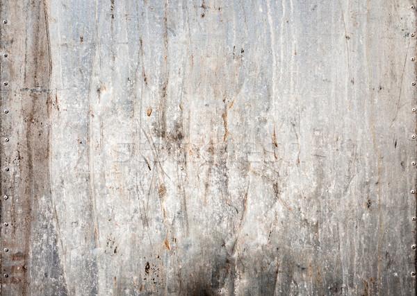 Manchado textura de metal pared fondo industrial oscuro Foto stock © Juhku