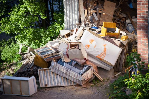 Funny broken furnitures trash pile Stock photo © Juhku