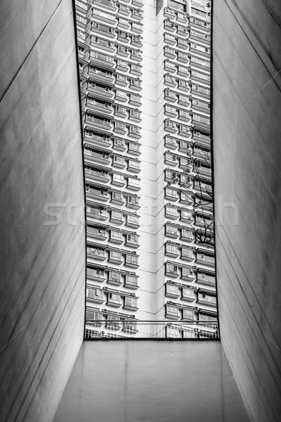 Dense urban living in hong kong Stock photo © Juhku