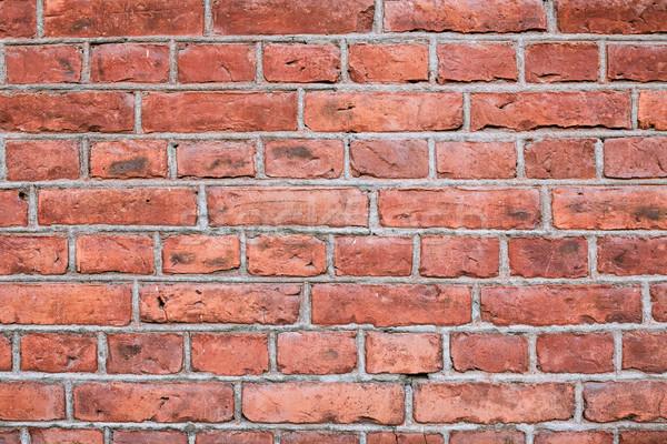 テクスチャ 古い 建物 壁 赤 黒 ストックフォト © Juhku
