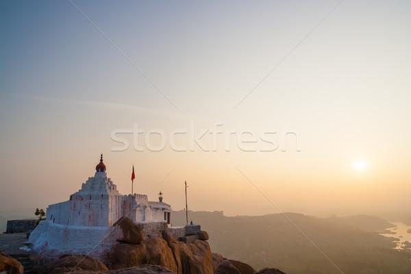 Scimmia tempio sunrise India Hill natura Foto d'archivio © Juhku