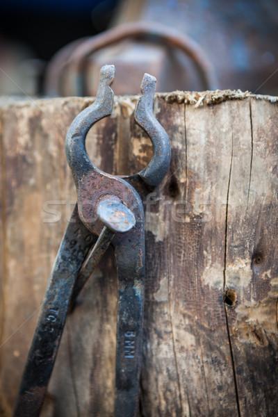 Getragen alten Eisen Stahl Jahrgang Geschichte Stock foto © Juhku