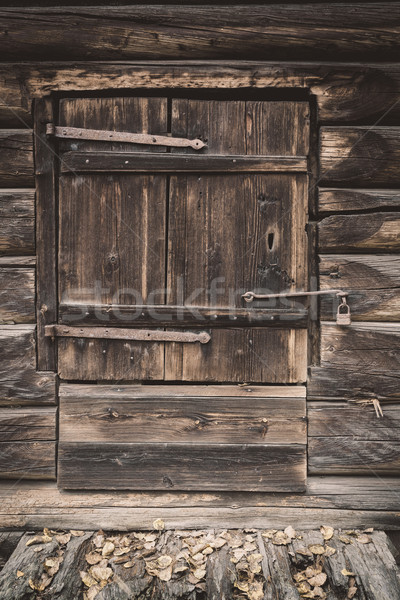 Old wooden barn door Stock photo © Juhku