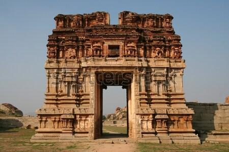 руин Индия древних город строительство индийской Сток-фото © Juhku