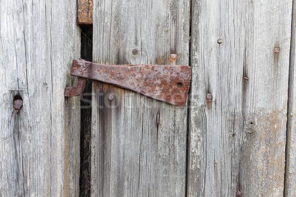 старые ржавые зависеть сарай двери текстуры Сток-фото © Juhku