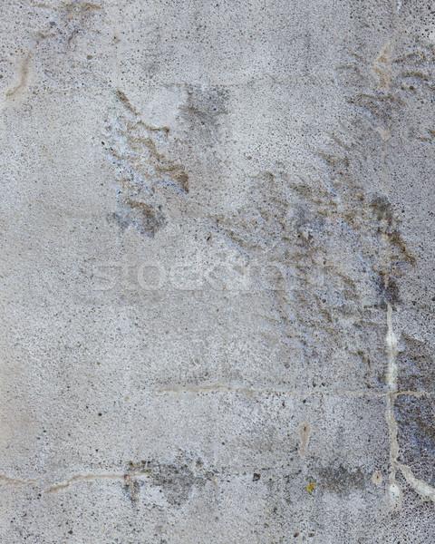 Worn grey cement stone wall Stock photo © Juhku