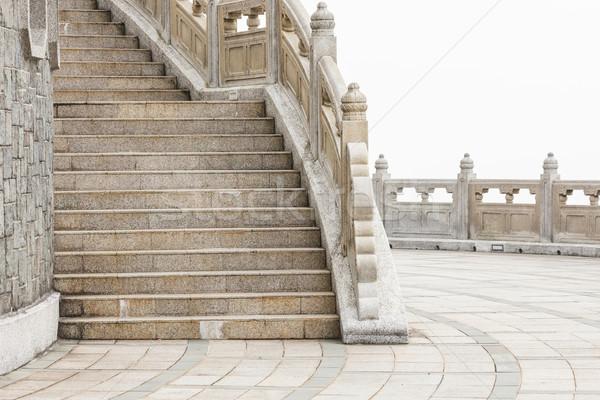 Stone walkway around big buddha hong kong Stock photo © Juhku