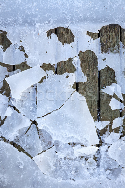 Congelés vieux pier hiver matin Photo stock © Juhku