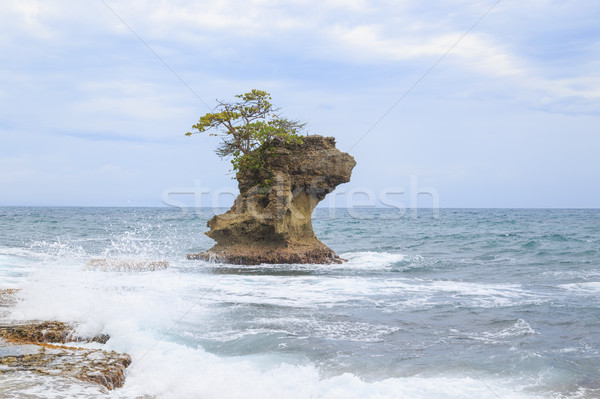 Rock formation at Manzanillo Costa Rica Stock photo © Juhku