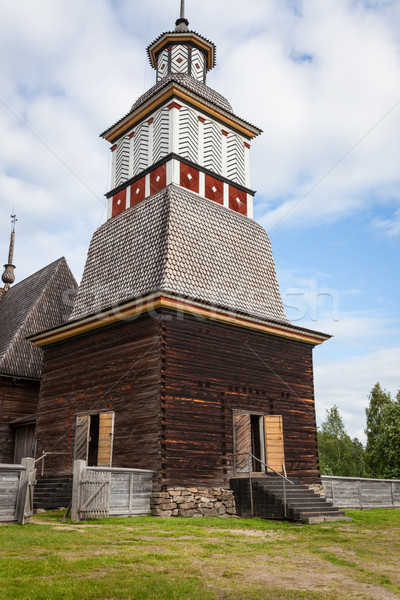 Wooden chruch in petajavesi Unesco Stock photo © Juhku