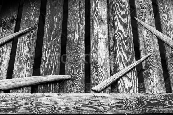 Old wooden barn decoration Stock photo © Juhku