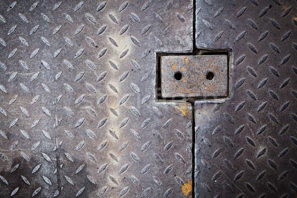 Dirty metal diamond grip pattern Stock photo © Juhku