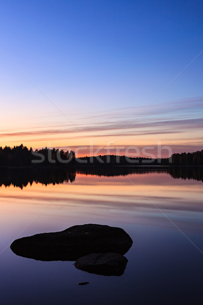 Serene view of calm lake Stock photo © Juhku