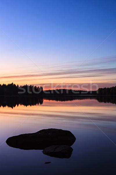 Sereen meer schemering hemel Stockfoto © Juhku