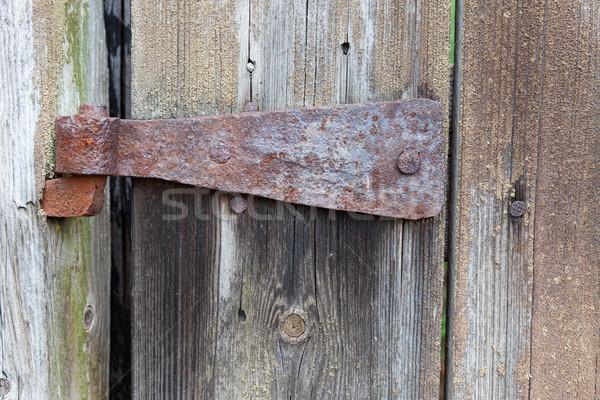 古い さびた ヒンジ 納屋 ドア テクスチャ ストックフォト © Juhku