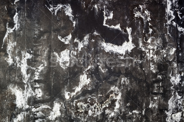 Stained black concrete wall Stock photo © Juhku