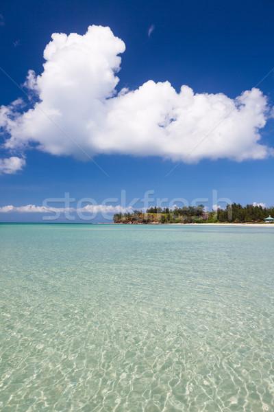 Paraíso arena playa Malasia punta Foto stock © Juhku