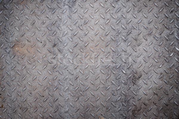 汚い 金属 ダイヤモンド グリップ パターン テクスチャ ストックフォト © Juhku