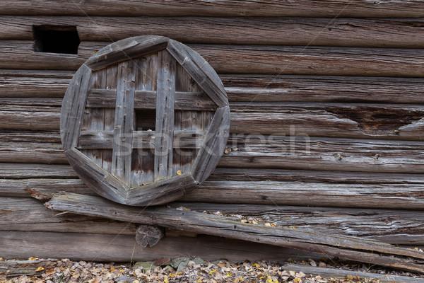 Old wooden barn wall Stock photo © Juhku