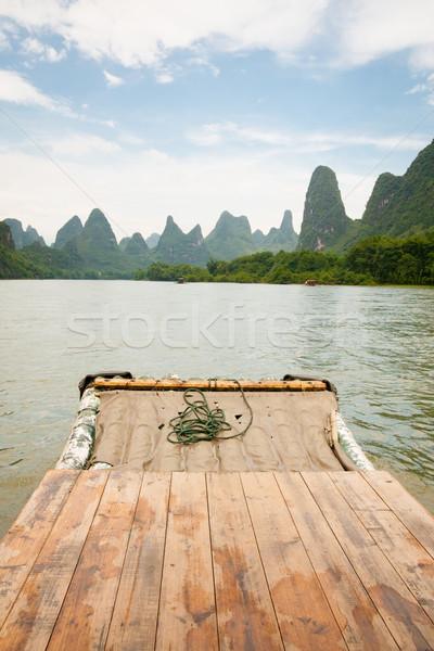 Bambú rafting río China naturaleza paisaje Foto stock © Juhku