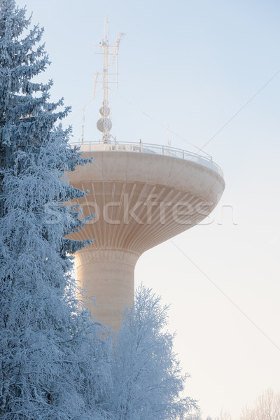 Water tower in cold winter weather Stock photo © Juhku