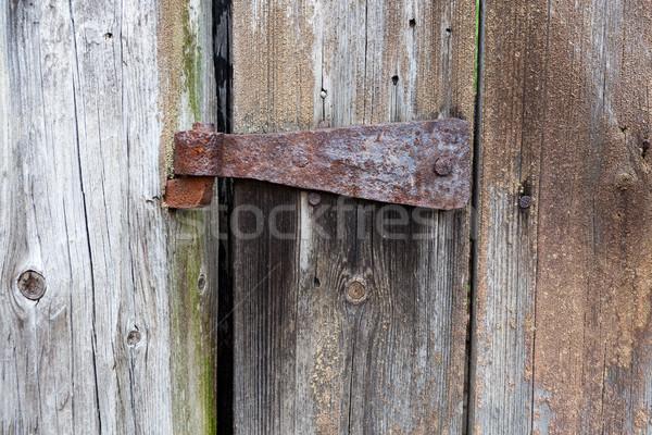 Eski paslı menteşe ahır kapı doku Stok fotoğraf © Juhku