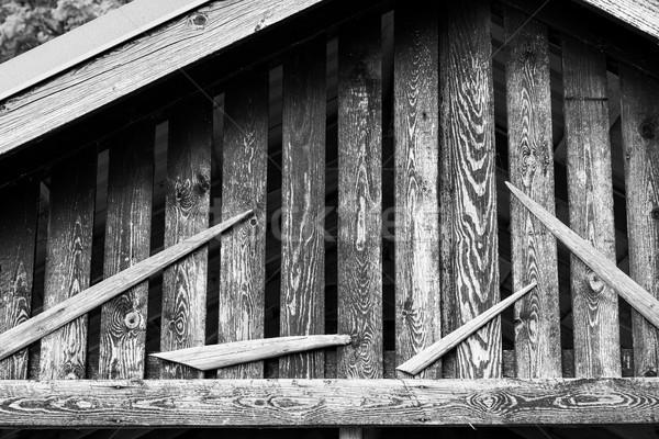 öreg fából készült csőr dekoráció részlet fa Stock fotó © Juhku