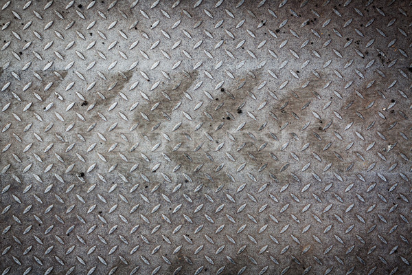 Dirty metal pattern and tyre tracks Stock photo © Juhku