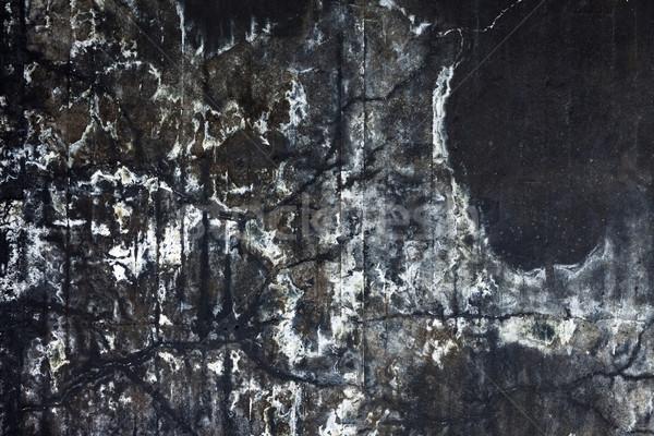 着色した 黒 具体的な 壁 抽象的な テクスチャ ストックフォト © Juhku