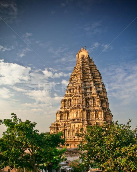 Virupaksha temple in hampi india Stock photo © Juhku