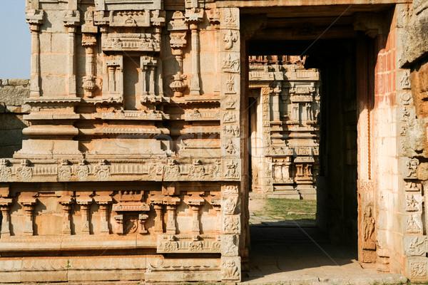 Details of ruin temple in hampi Stock photo © Juhku