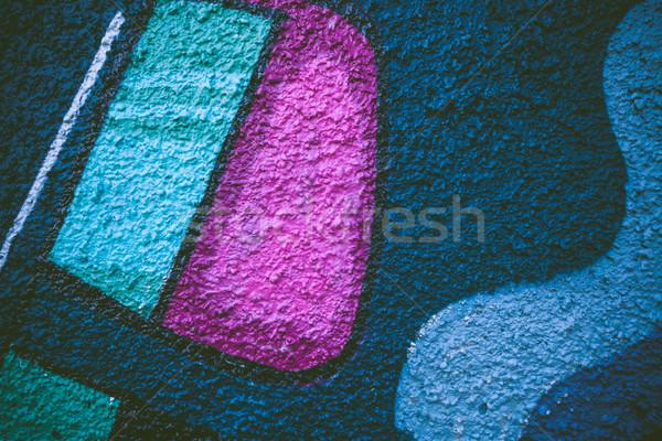 Graffiti primo piano vernice sfondo retro colore Foto d'archivio © Juhku